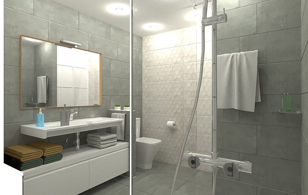 Baño iluminación óptima